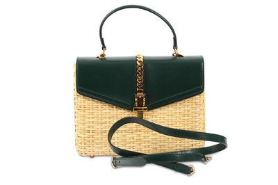 Lot 1232-Gucci Sylvie Wicker and  Top Handle Bag