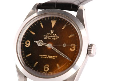 Lot 430-A RARE AND ATTRACTIVE ROLEX MEN'S STAINLESS STEEL AUTOMATIC WRISTWATCH