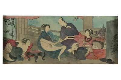 Lot 1016 - Japanese Erotic Scroll