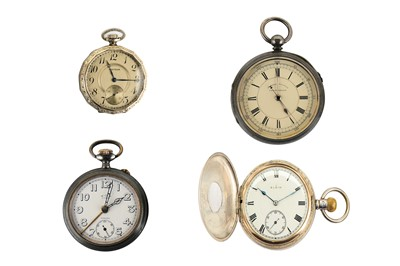 Lot 39-4 POCKET WATCHES. OPEN FACE WALTHAM: Signed...