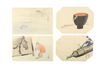 Lot 661 - A COLLECTION OF JAPANESE WOODBLOCK PRINTS BY GEKKO, GYOKUSHO, ZESHIN AND OTHERS.
