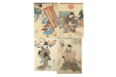 Lot 643 - A COLLECTION OF JAPANESE WOODBLOCK PRINTS BY KUNIYOSHI, KUNISADA AND OTHERS.