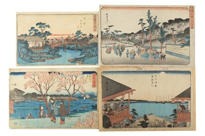 Lot 631 - A COLLECTION OF JAPANESE WOODBLOCK PRINTS BY HIROSHIGE I & HIROSHIGE II