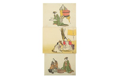 Lot 627 - A COLLECTION OF JAPANESE WOODBLOCK PRINTS BY HOKUSAI AND OTHERS.