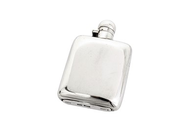 Lot 364 - A George VI sterling silver spirit hip flask, Sheffield 1937 by James Dixon and Sons