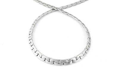 Lot 41 - A white gold necklace, 1973