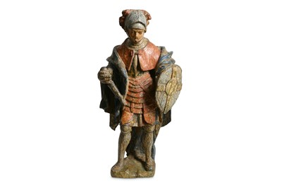 Lot 46-AN EARLY 16TH CENTURY FLEMISH POLYCHROME...