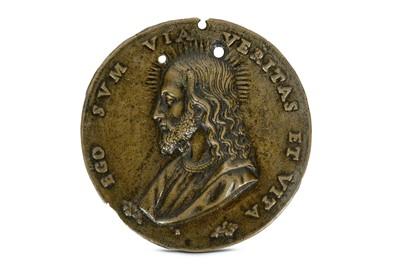 Lot 9A-A 16TH CENTURY ITALIAN BRONZE MEDALLION DEPICTING ...
