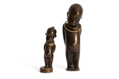 Lot 33-HAGENAUER: A miniature dark patinated bronze...