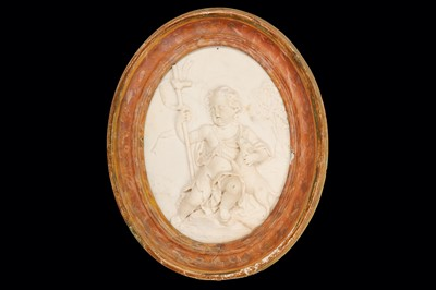 Lot 24-AN 18TH CENTURY ITALIAN CARVED MARBLE RELIEF OF...