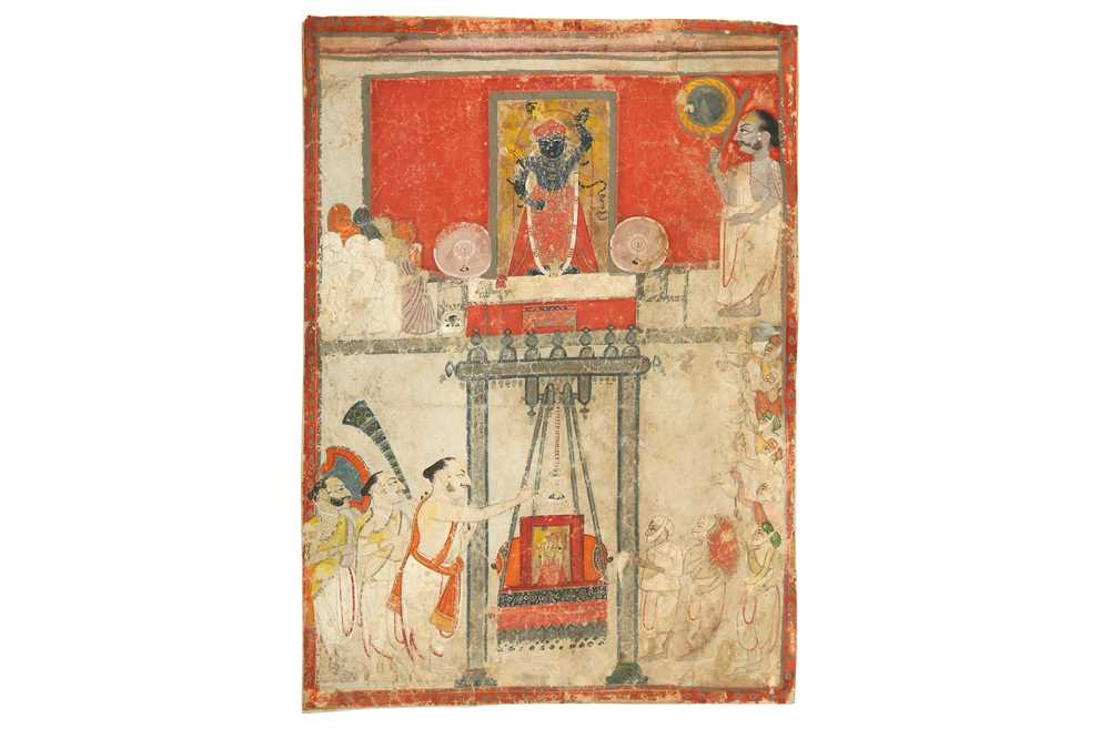 Lot 11 - A TEMPLE PUJA TO SRI NATH JI PROPERTY OF THE LATE BRUNO CARUSO (1927 - 2018) COLLECTION