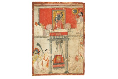 Lot 11-A TEMPLE PUJA TO SRI NATH JI PROPERTY OF THE LATE BRUNO CARUSO (1927 - 2018) COLLECTION