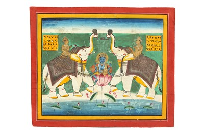 Lot 13-GAJA LAKSHMI AND HER CONSORT WASHED BY ELEPHANTS PROPERTY OF THE LATE BRUNO CARUSO (1927 - 2018) COLLECTION