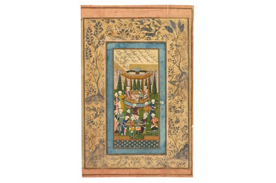 Lot 8-A COURTLY BANQUET IN A GARDEN PROPERTY OF THE LATE BRUNO CARUSO (1927 - 2018) COLLECTION