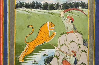 Lot 17-A TIGER HUNTING SCENE PROPERTY OF THE LATE BRUNO CARUSO (1927 - 2018) COLLECTION