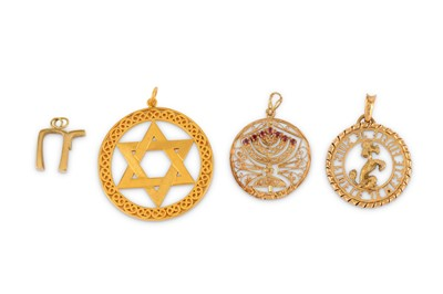 Lot 43-A collection of four pendants
