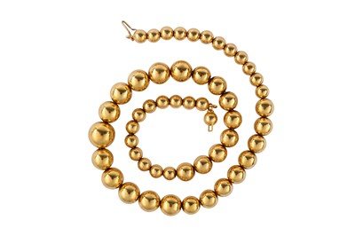 Lot 27-A spherical-link necklace