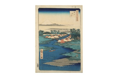 Lot 632 - A JAPANESE WOODBLOCK PRINT BY HIROSHIGE (1797 - 1858).