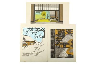 Lot 663 - SIX WOODBLOCK PRINTS BY NAGAI KIYOSHI.