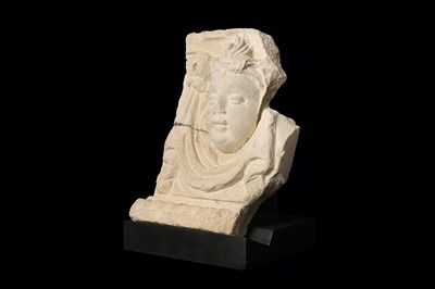 Lot 27-A 17TH CENTURY ITALIAN SANDSTONE RELIEF OF A...