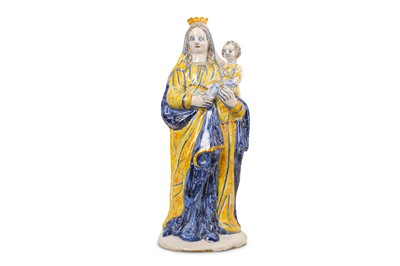 Lot 39-A 17TH CENTURY FRENCH FAIENCE (NEVERS)...