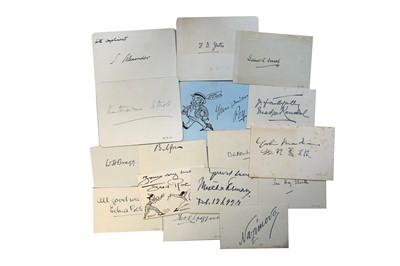 Lot 36-Autograph Collection.- Miscellaneous