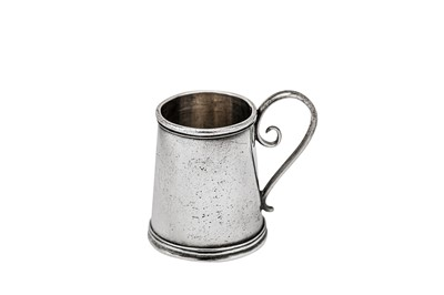 Lot 238-A George II silver miniature or 'toy' mug, London circa 1740 by John Clayton