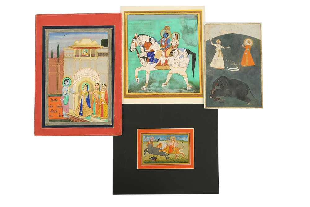Lot 28-A MISCELLANEOUS GROUP OF TWENTY-FOUR MODERN INDIAN AND PERSIAN PAINTINGS MADE FOR THE WESTERN EXPORT MARKET PROPERTY OF THE LATE BRUNO CARUSO (1927 - 2018) COLLECTION