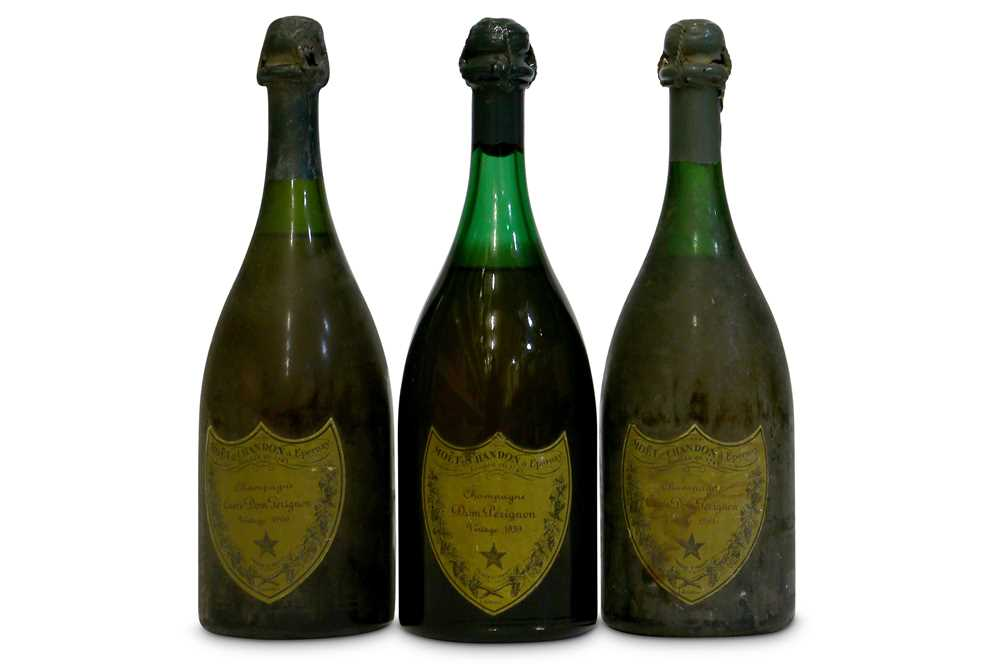 Lot 20-Dom Perignon from Various Vintages - All Over 50 Years Old