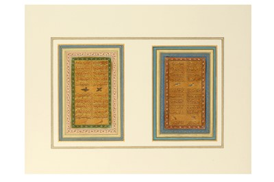 Lot 44-*TWO FOLIOS FROM A MUGHAL MANUSCRIPT OF SONNETS BY 'SHAHI'