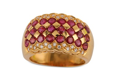 Lot 8-A ruby and diamond ring