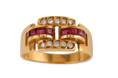 Lot 15-A ruby and diamond ring