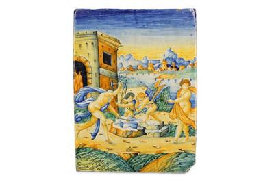 Lot 3-A 16TH CENTURY ITALIAN MAIOLICA ISTORIATA PLAQUE...