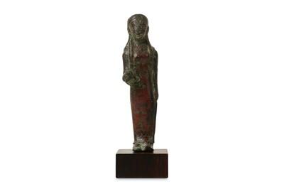 Lot 6-A 6TH CENTURY B.C. ETRUSCAN BRONZE KORE FIGURE...