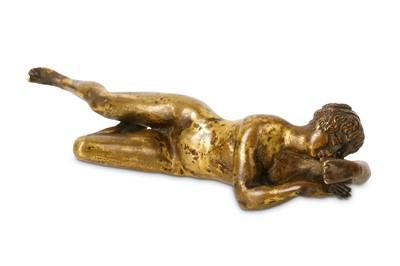 Lot 4-A SMALL 17TH CENTURY ITALIAN BRONZE OF A SLEEPING ...