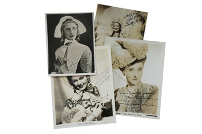 Lot 61-Photograph Collection.- Vintage Actresses