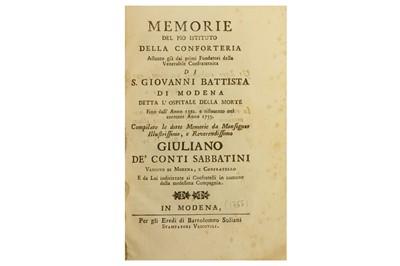 Lot 35-Italian Social History.- Sabbatini (Giuliano)