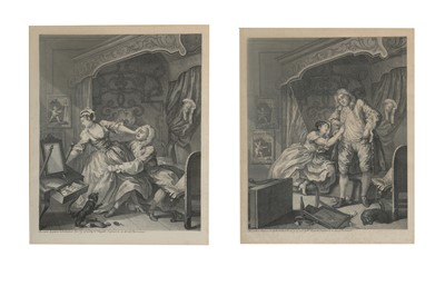 Lot 1001-Hogarth (William, after) Before and After