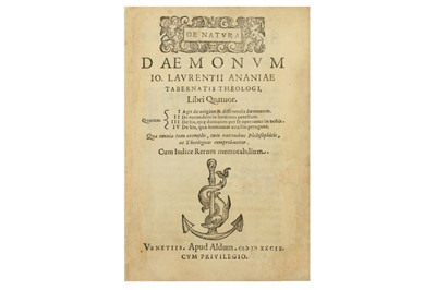 Lot 21-Demonology.- D'Anania (Giovanni Lorenzo)