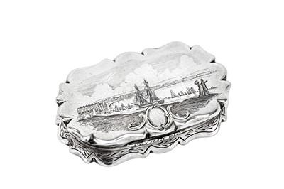 Lot 203-A Victorian sterling silver vinaigrette, Birmingham 1854 by Yapp & Woodward