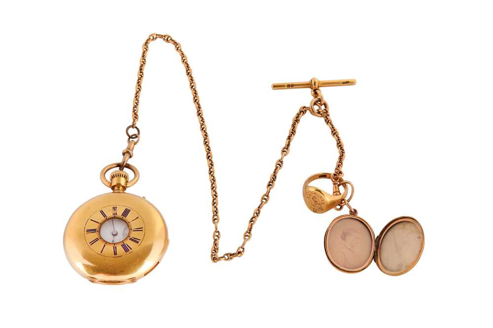 POCKET WATCH. A RARE 18K GOLD QUARTER REPEATER.