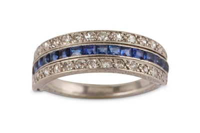 Lot 22-A sapphire and diamond ring