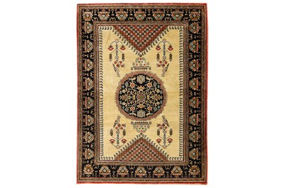 Lot 21-A VERY FINE SILK QUM RUG, CENTRAL PERSIA