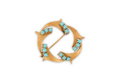 Lot 36-A turquoise brooch