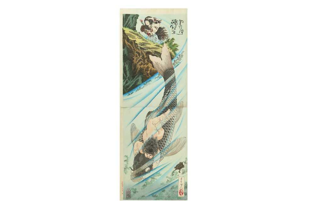 Lot 642 - JAPANESE WOODBLOCK PRINTS BY YOSHITOSHI (1839 - 1892).