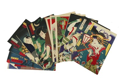 Lot 651 - A COLLECTION OF JAPANESE WOODBLOCK PRINTS KUNISADA AND OTHERS.