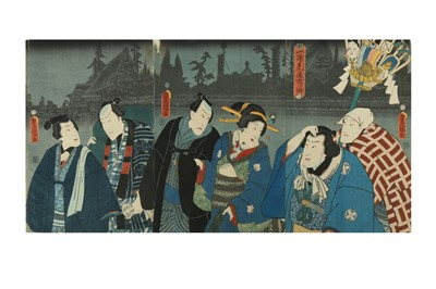 Lot 652 - A COLLECTION OF JAPANESE WOODBLOCK PRINTS BY KUNISADA AND OTHERS
