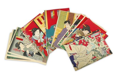 Lot 653 - A COLLECTION OF JAPANESE WOODBLOCK PRINTS BY KUNICHIKA AND OTHERS.