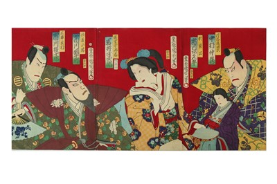 Lot 654 - A COLLECTION OF JAPANESE WOODBLOCK PRINTS BY KUNICHIKA AND KUNISHIGE.