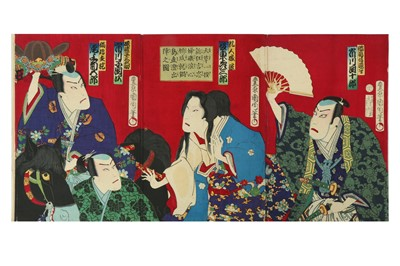 Lot 655 - A COLLECTION OF JAPANESE WOODBLOCK PRINTS BY KUNICHIKA AND OTHERS.